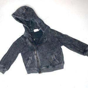 Zara Baby Boy Acid Wash Hoodie lightweight coat
